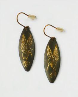Boucles d'oreilles marquises colibri