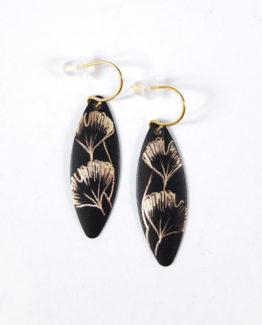 Boucles d'oreilles marquise collection Ginkgo Biloba