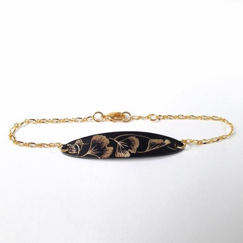 Bracelet chaîne collection Ginkgo Biloba