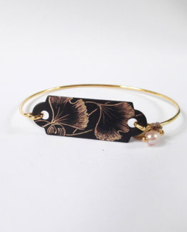 Bracelet dur collection Ginkgo Biloba
