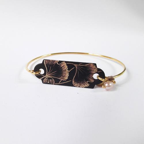 Bracelet dur collection Ginkgo Biloba