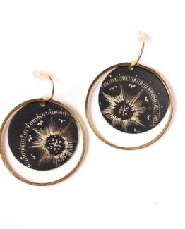 Boucles d'oreilles rondes collection Stellaire