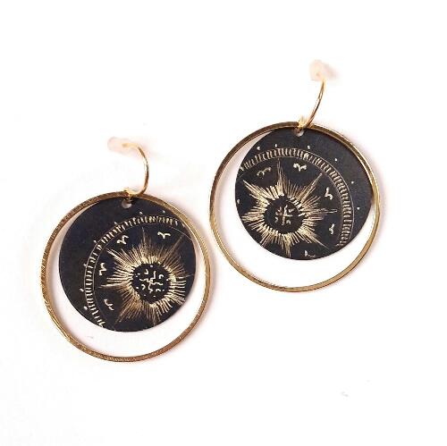 Boucles d'oreilles rondes collection Stellaire
