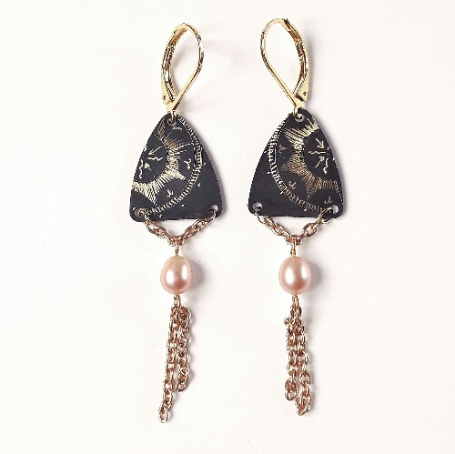 Boucles d'oreilles triangle collection Stellaire
