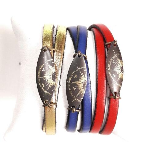 Bracelets cuir collection Stellaire
