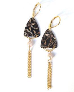 Boucles d'oreilles triangle collection Dentelle