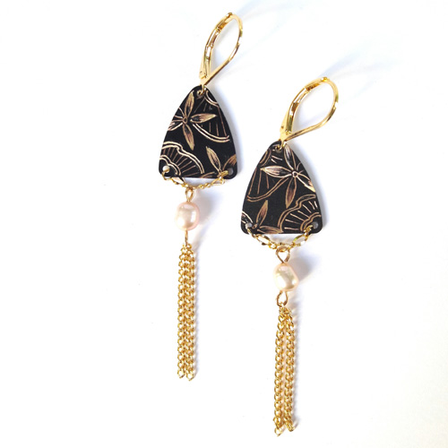 Boucles d'oreilles triangle collection Dentelle