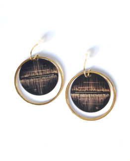 Boucles d'oreilles rondes collection Reflet