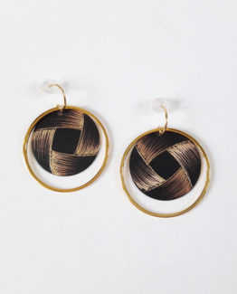 Boucles d'oreilles rondes collection Ruban