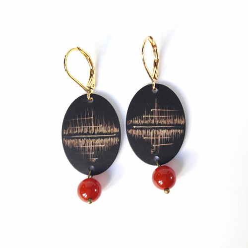 Boucles d'oreilles ovales collection Reflet