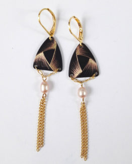 Boucles d'oreilles triangle collection Ruban