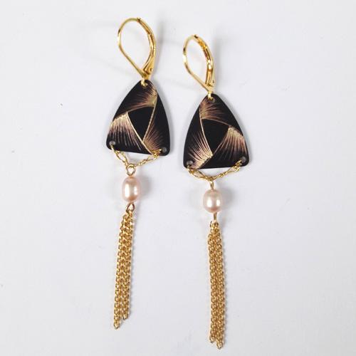 Boucles d'oreilles triangle collection Ruban