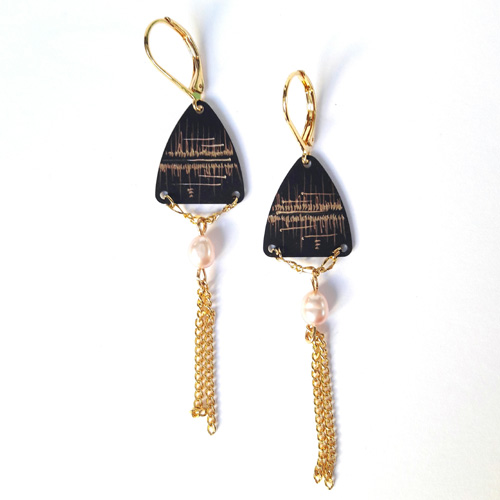 Boucles d'oreilles triangle collection Reflet