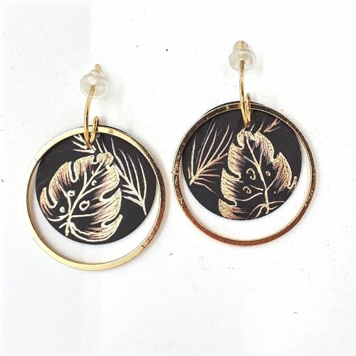 Boucles d'oreilles cercle collection Jungle