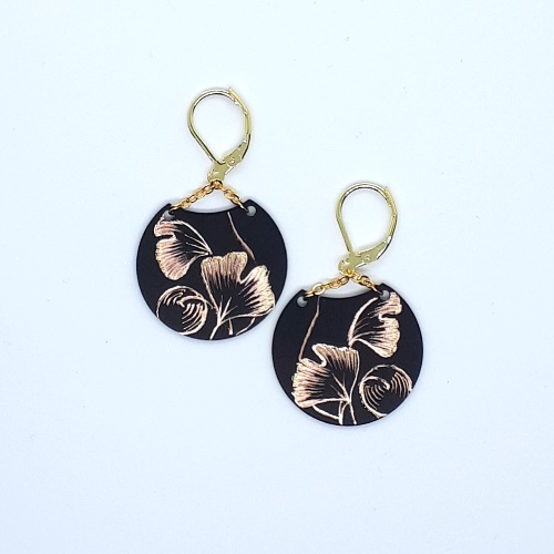 Boucles d'oreilles Lune collection Gingko