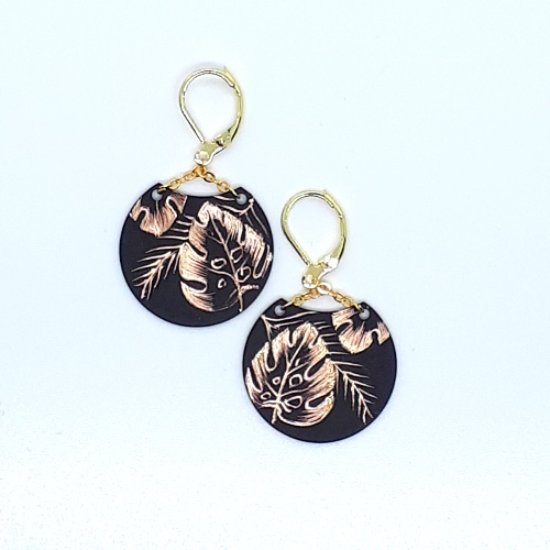 Boucles d'oreilles Lune collection Jungle