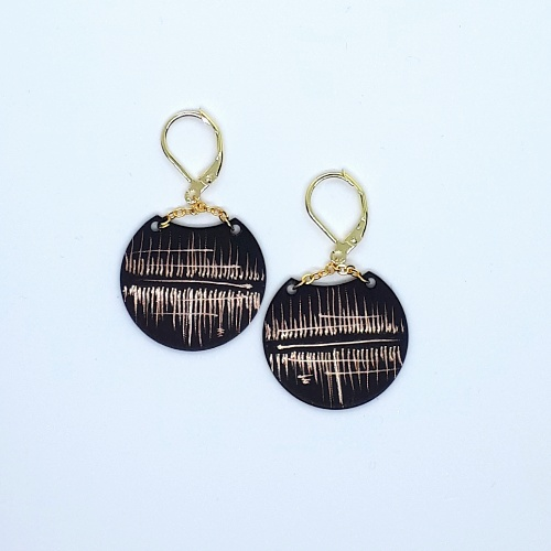 Boucles d'oreilles Lune collection Reflet