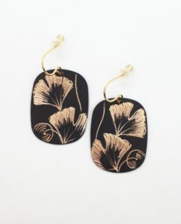 Boucles d'oreilles rectangle collection Gingko