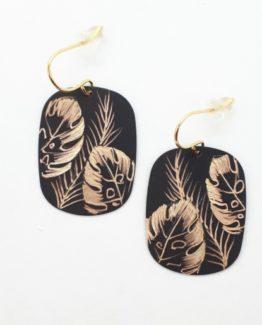 Boucles d'oreilles rectangle collection Jungle