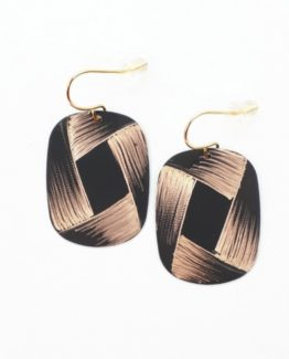 Boucles d'oreilles rectangle collection Ruban