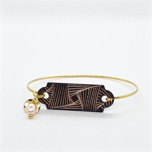Bracelet dur avec perle collection Focus