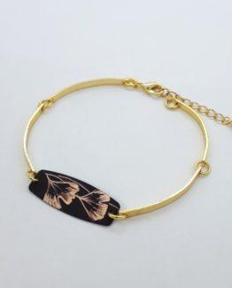 Bracelet dur articulé avec rectangle collection Gingko
