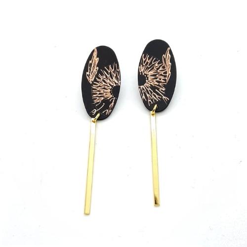 Boucles d'oreilles longues collection Pissenlit