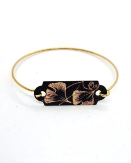 Bracelet dur collection Gingko